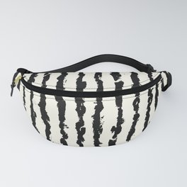 Vertical Ivory Stripes Fanny Pack