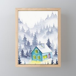 Foggy Forest #6 Framed Mini Art Print