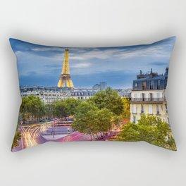 The View, Eiffel Tower Paris France Rectangular Pillow