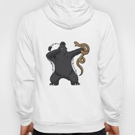 Dabbing Honey Badger Fighting Snake Care Hoody
