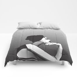 Black and White Female Comforters