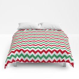 Christmas Chevron Print Comforters