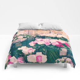 Paris flower market Comforters