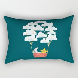 Hot cloud baloon - moon and star Rectangular Pillow