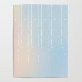 Stars & Moons Poster