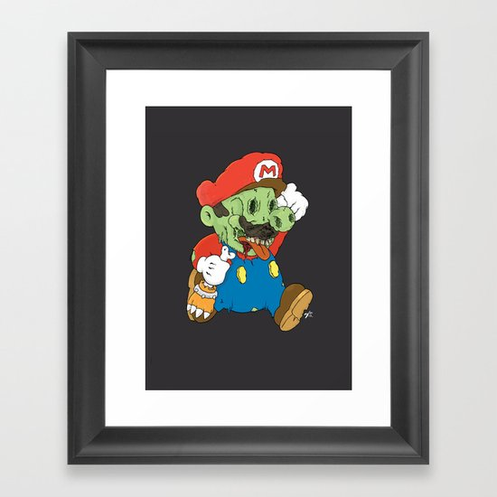 It's A Me Zombio Framed Art Print