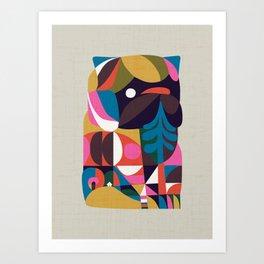 Nordic Pug Art Print