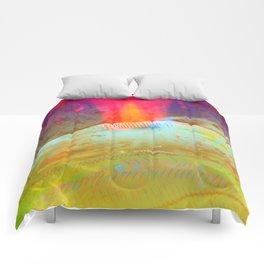 Volcanic Eruption II Comforters