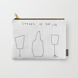 Cheers To Our Life - wine champagne glasses illustration Carry-All Pouch