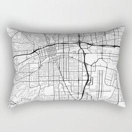 Reno Map, USA - Black and White Rectangular Pillow