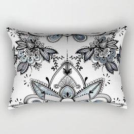Denim Paisley Rectangular Pillow