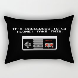 Its dangerous to go alone take this video game Rectangular Pillow