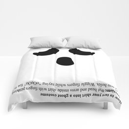 Impromptu Ghost Costume Comforters