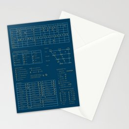 Stylized Blue IPA Chart Stationery Cards