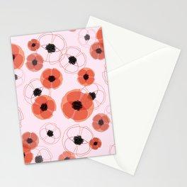 Poppy Blue Pattern MT Stationery Cards