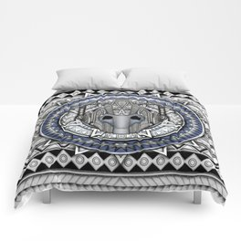 Aztec Robot Pencils sketch Art Comforters