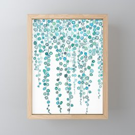 String Of Pearls plants watercolor 2 Framed Mini Art Print