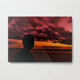 Watching the Sun go down Metal Print