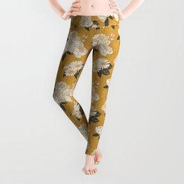 Glam Florals - Gold Leggings