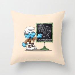 Attack on Titan Smurf Edition Throw Pillow