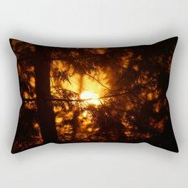 Sunrise Through the Woods Rectangular Pillow