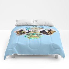 Meditate (blue sky) Comforters