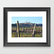 Tuscany's Town of Fine Towers Framed Art Print