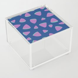 Abstract Graphic Pattern | Blue | Pink | Green Acrylic Box