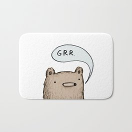 Growling Bear Bath Mat