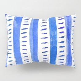 Watercolor lines - blue Pillow Sham