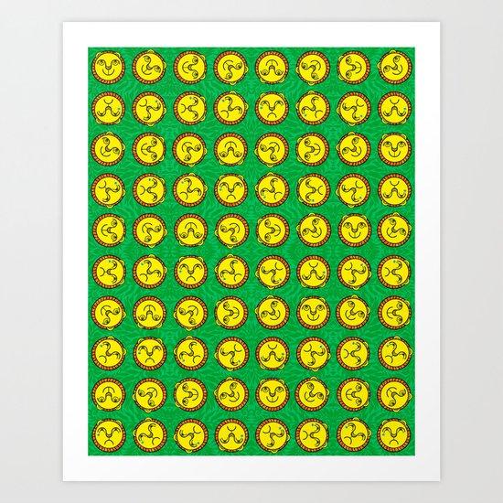 Happy Lion, Sad Lion Art Print