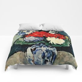 "Paul Cezanne ""Delft vase with flowers"" Comforters"