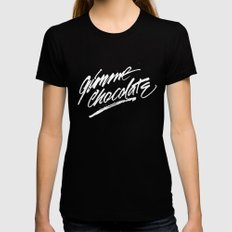 Gimme Chocolate Womens Fitted Tee SMALL Black
