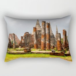 Ruins of Ayutthaya Rectangular Pillow