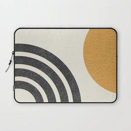 Mid century modern Sun & Rainbow Laptop Sleeve