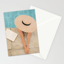 On the edge of the Pool II Stationery Cards