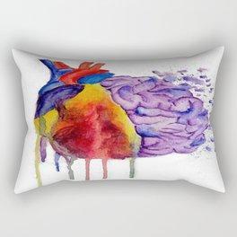 Heart vs. Mind Rectangular Pillow