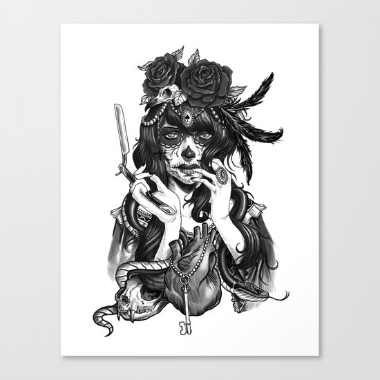 Chicana Canvas Print