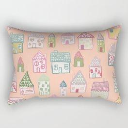 tiny village print - watercolor Rectangular Pillow