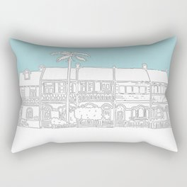 Camperdown Park Terraces - Blue Rectangular Pillow