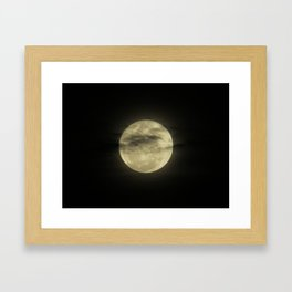 Moon Black Framed Art Print