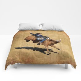 Bull Dust! - Rodeo Bull Riding Cowboy Comforters