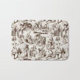 Alice in Wonderland | Toile de Jouy | Brown and Beige Bath Mat