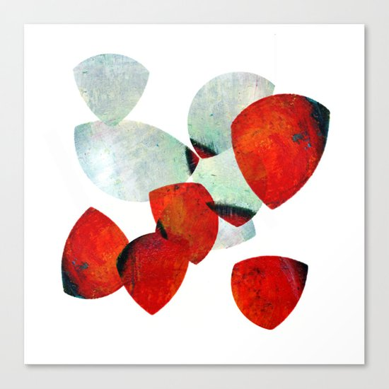 composition in red and grey Canvas Print