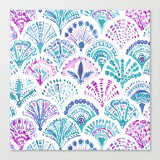 SHELL OUT Boho Mermaid Scales Canvas Print
