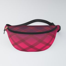 Beautiful oblique cage satin red on a black background . Fanny Pack