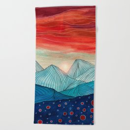Lines in the mountains IV Beach Towel