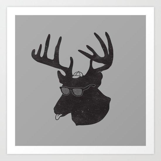Weird Deer Art Print