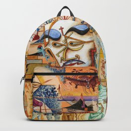 Xul Solar collage Backpack