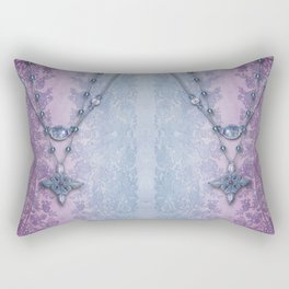 ABIGAIL'S LACE: FRENCH BLUE Rectangular Pillow